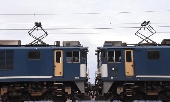 2020年1月18日撮影 EF64広島更新色重連 連結部のUP