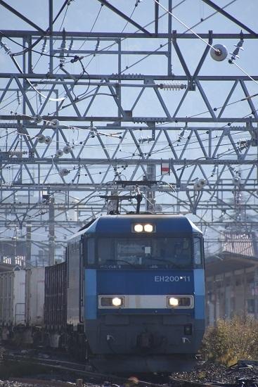 2019年11月2日撮影 東線貨物2083レ EH200-11号機 中村運転士