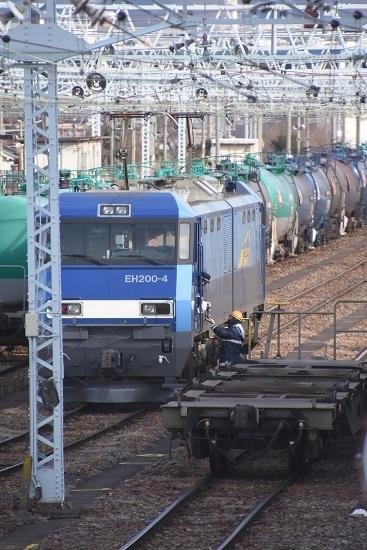 2020年1月18日撮影 南松本にて東線貨物2080レ 機回し1