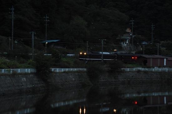 2019年10月7日撮影 辰野線旧客返却回送 川岸にて