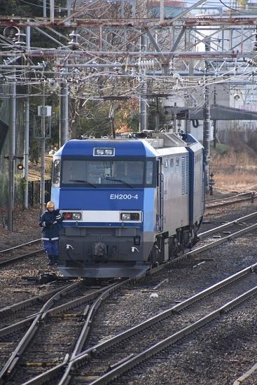 2020年1月18日撮影 南松本にて東線貨物2080レ 機回し2