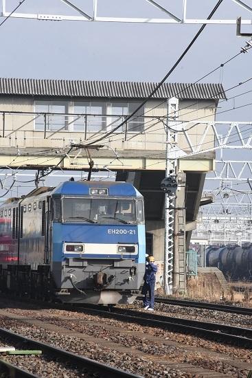 2019年11月23日撮影 東線貨物2080レ 南松本にて無線機返却