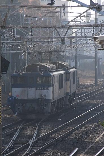 2019年11月23日撮影 南松本にて西線貨物8084レ 機回し中