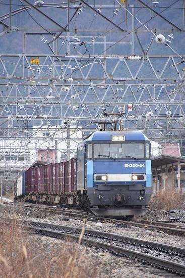 2020年1月18日撮影 東線貨物2083レ EH200-21号機を正面から