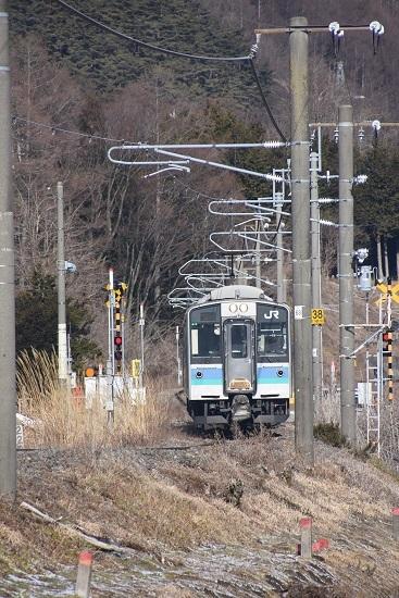 2020年1月19日撮影 辰野線 156M E127系