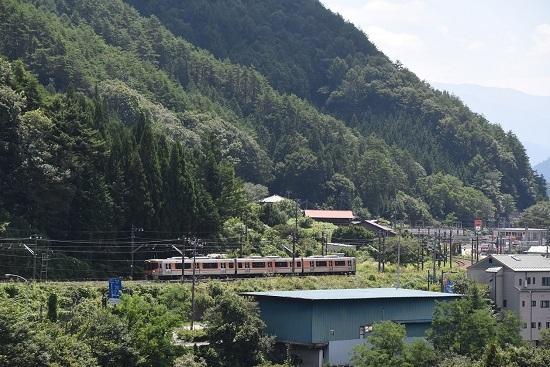 8月24日撮影 回9855M 313系8000番台 上松→木曽福島