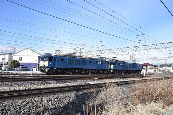 2020年1月19日撮影 西線貨物8084レ EF64原色重連