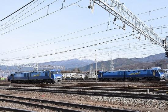 2020年1月19日撮影 南松本にてEH200 JRFマーク無しの並び