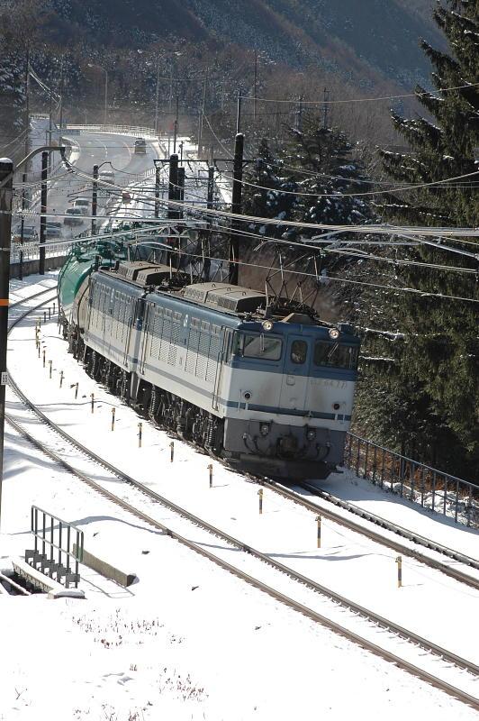 2009年1月23日撮影 中央西線貨物EF64-77号機