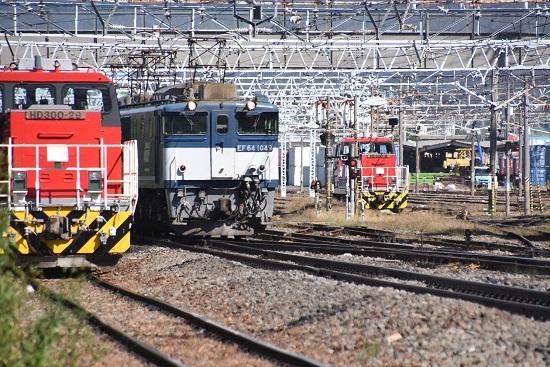 2019年10月9日撮影 西線貨物8084レ HD300-29号機と