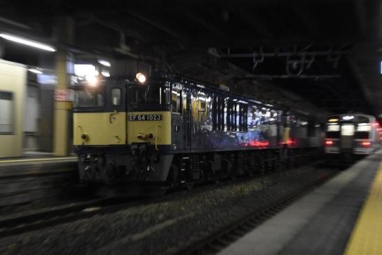2020年1月20日撮影 西線貨物5880レ EF64-1023号機