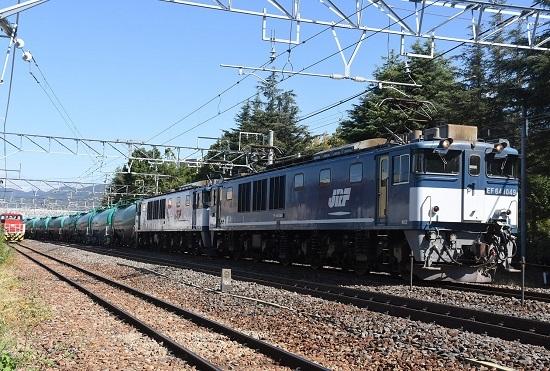 2019年10月9日撮影 西線貨物8084レ EF64-1049号機
