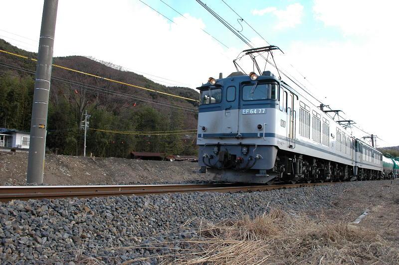 3009年1月24日撮影 辰野線貨物EF64-77号機
