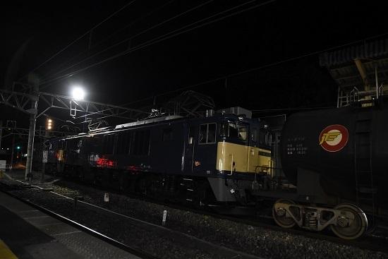 2020年1月20日撮影 西線貨物5080レ EF64-1036+黒タキ
