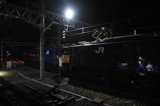 2020年1月20日撮影 西線貨物5880レ EF64原色重連後撃ち