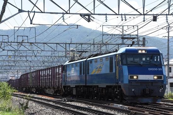 2019年8月26日撮影 東線貨物2083レ EH200-20号機コキ牽引