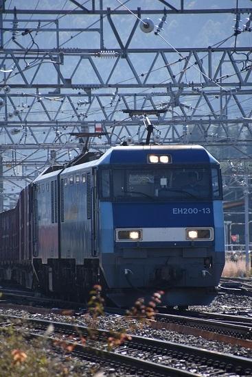 2019年11月5日撮影 東線貨物2083レ EH200-13号機を正面から