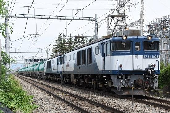 2019年8月27日撮影 西線貨物8084レ EF64-1005+1015号機