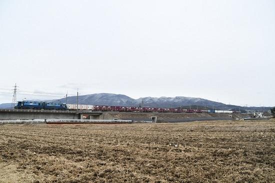 2020年1月18日撮影 東線貨物2083レ EH200-24号機をみどり湖