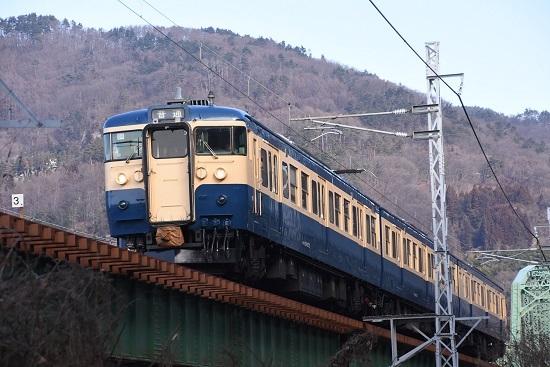 2020年1月26日撮影 しなの鉄道 115系 S16編成 スカ色