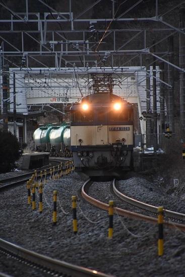 2020年2月1日撮影 西線貨物6088レ EF64-1028号機を正面から