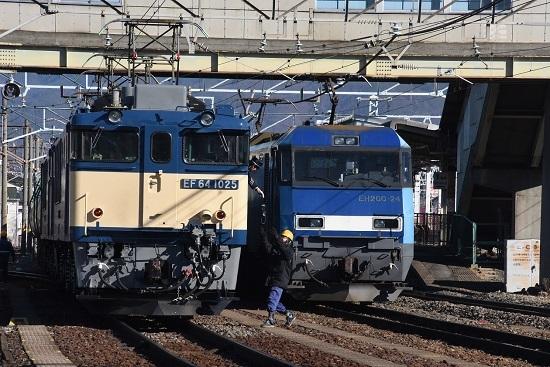 2020年2月1日撮影 南松本にて西線貨物8084レ機回し 無線機返却