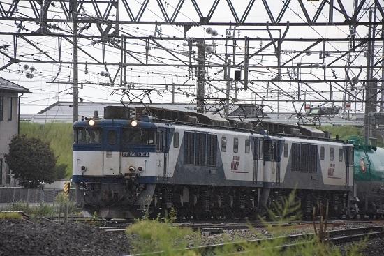 2019年8月29日 西線貨物8084レ 塩尻駅進入
