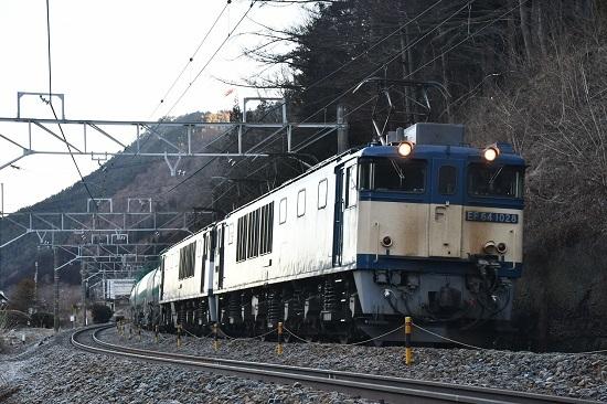 2020年2月1日撮影 西線貨物6088レ EF64-1028+1046号機