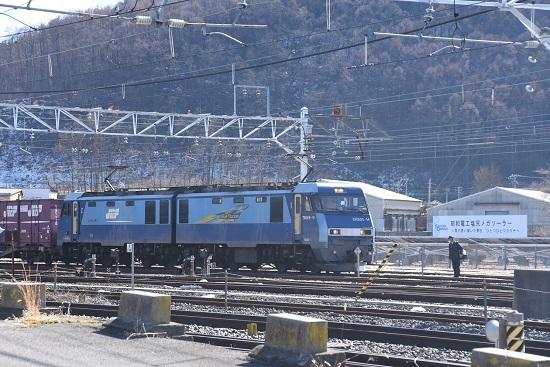 2020年2月1日撮影 東線貨物2083レ 塩尻大門にて運転士交代