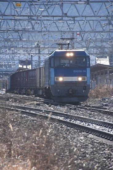2020年2月1日撮影 東線貨物2083レ 塩尻駅を通過