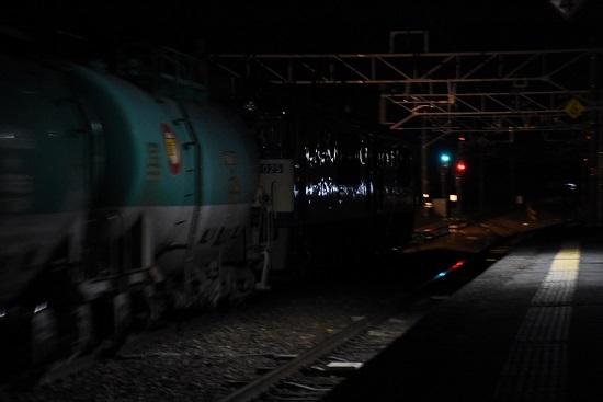 2020年2月1日撮影 西線貨物8081レ 洗馬駅にて後撃ち