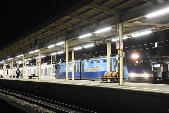 2020年2月1日撮影 EH200-15号機が牽く甲種輸送 塩尻駅入線