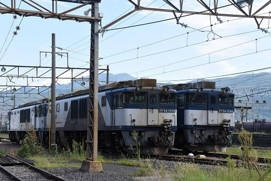 2019年8月31日 EF64-1046と1017号機の並び