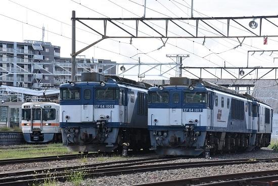 2019年8月31日 313系1700番台とEF64の並び