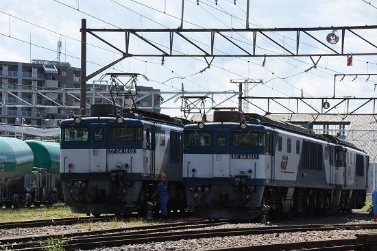 2019年8月31日 EF64-1002とEF64-1017号機の並び