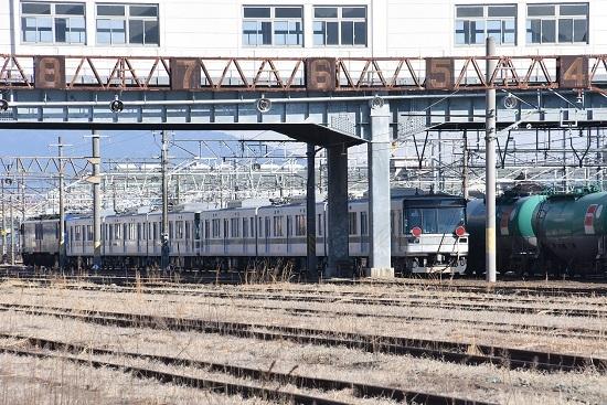 2020年2月2日撮影 篠ノ井駅にて東京メトロ03系甲種編成