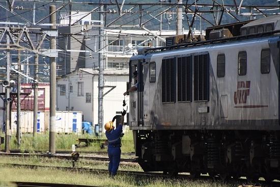 2019年8月31日撮影 篠ノ井線8465レ 無線機返却