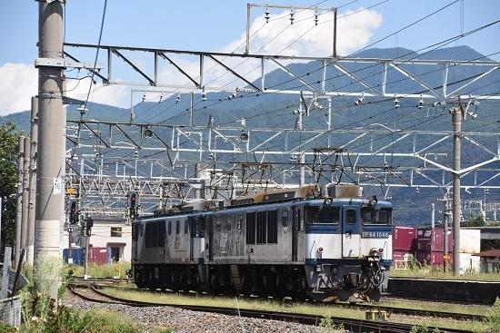 2019年8月31日撮影 篠ノ井線8465レ EF64重単発車
