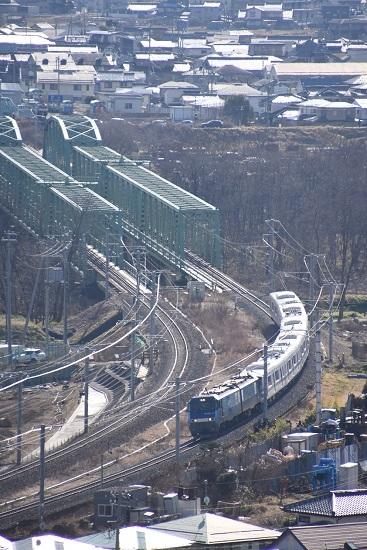 2020年2月2日撮影 東京メトロ03系長野電鉄譲渡 甲種輸送を俯瞰