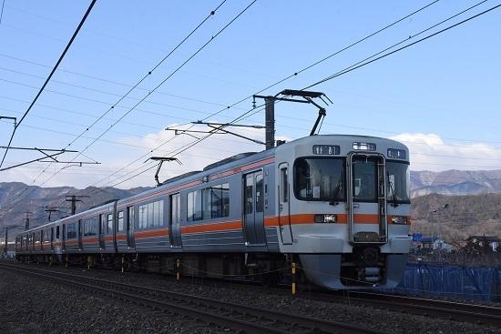 2020年2月8日撮影 西線823M 313系4連