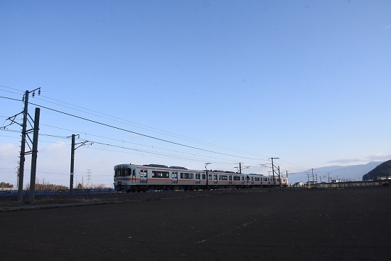 2020年2月8日撮影 西線823M 313系4連発車