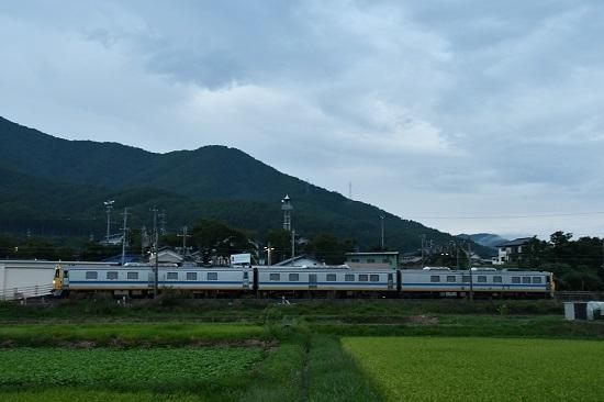 2019年8月21日 飯田線 キヤ95検測 伊那新町駅通過
