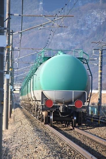 2020年2月8日撮影 西線貨物6088レ 緑タキのお尻