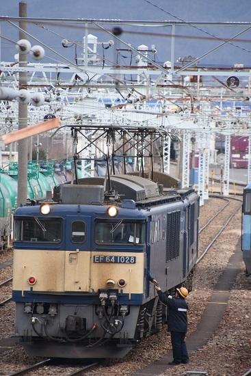 2020年2月8日撮影 南松本にて西線貨物8084レ機回し 無線機渡し