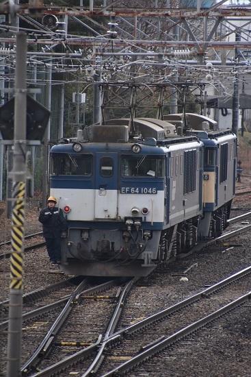 2020年2月8日撮影 南松本にて西線貨物8084レ機回し EF64-1046号機