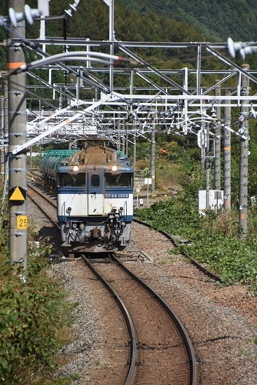 2019年10月15日撮影 西線貨物8084レ 贄川にて