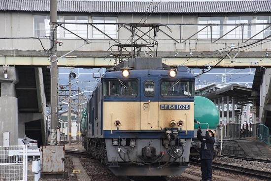 2020年2月8日撮影 南松本にて西線貨物8084レ機回し 無線機返却