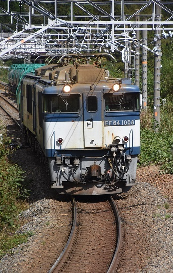2019年10月15日撮影 西線貨物8084レ EF64-1008号機