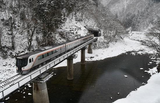 2020年2月9日撮影 高山本線 坂上にてHC85系試運転