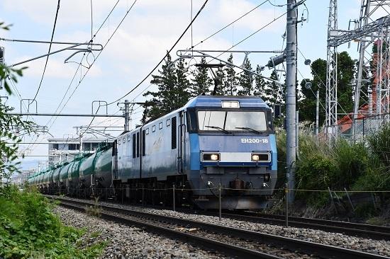 8月26日撮影 東線貨物2080レ EH200-18号機